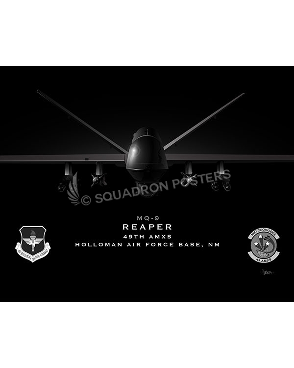 Jet Black Holloman AFB MQ-9 49th AMXS 20x16 FINAL ModifySB-SP01663MFEAT-jet-black-aircraft-lithograph