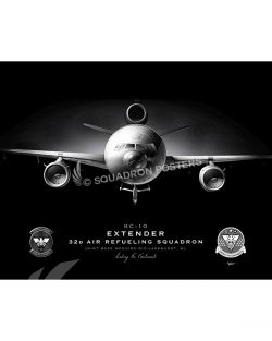 KC-10 32 ARS Jet Black Lithograph Jet Black JB Mcguire-Dix KC-10 32d ARS-V2-SP01407-FEAT-jet-black-aircraft-lithograph-art