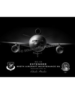 Jet Black KC-10 605 AMXS SP01109-FEAT-jet-black-aircraft-lithograph