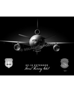KC-10A FTU Boom Operators Jet Black Lithograph kc-10 black poster SP00948