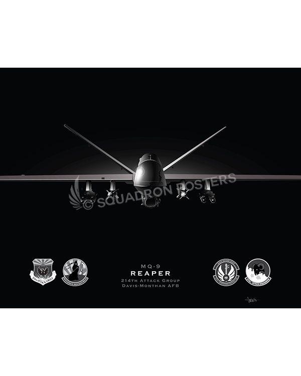 Jet Black MQ-9 214th ATKG modifyMS SP01558-FEAT-jet-black-aircraft-lithograph
