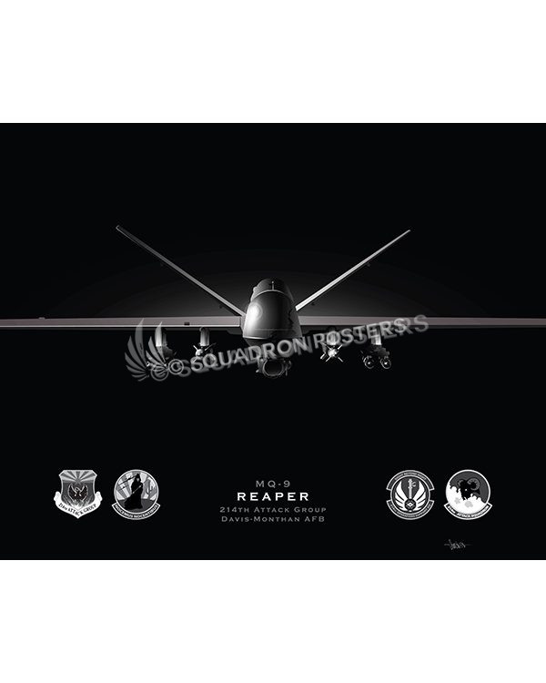 Jet Black MQ-9 214th ATKG modifyMS SP01558-FEAT-jet-black-aircraft-lithograph