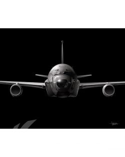 RC-135 Jet Black Lithograph Jet Black RC-135 SP01435-FEAT-jet-black-aircraft-lithograph-art