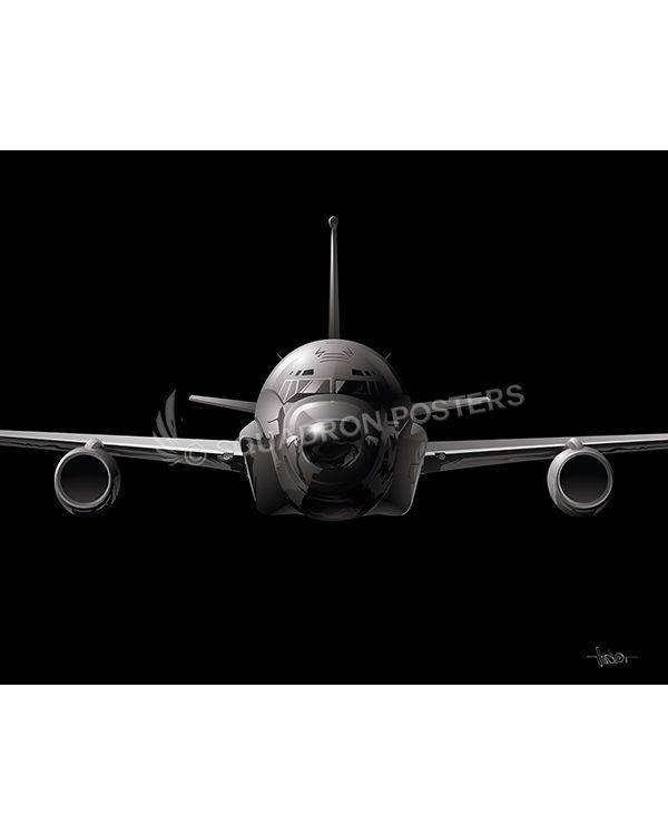 RC-135 Jet Black Lithograph Jet Black RC-135 SP01435-FEAT-jet-black-aircraft-lithograph-art