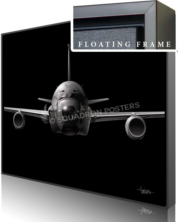 Jet Black RC-135 SP01435-featured-canvas-framed-aircraft-lithograph-art