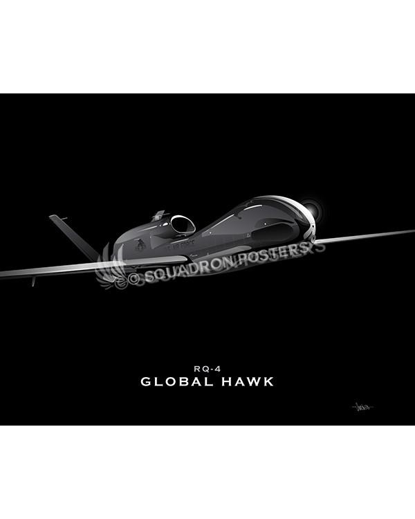 RQ-4 Global Hawk Jet Black Lithograph – Squadron Posters