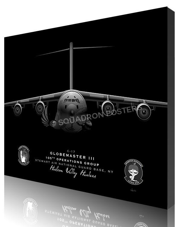 Jet Black Stewart ANGB C-17 105th OG SP01393-featured-canvas-lithograph-art