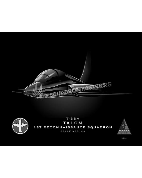 T-38A 1st RS Jet Black Lithograph jet-black-t-38a-1st-rs-sp01216-feat-jet-black-aircraft-lithograph-art