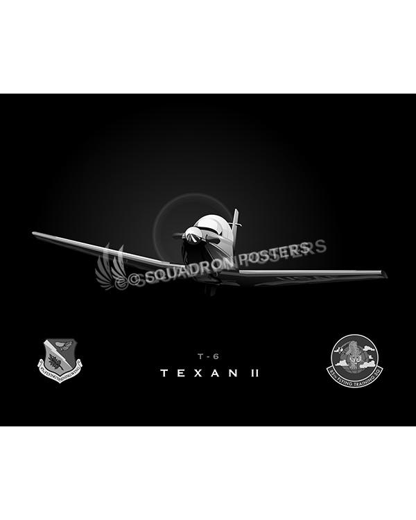 Jet Black T-6 85th FTS SP00987-FEAT-jet-black-aircraft-lithograph