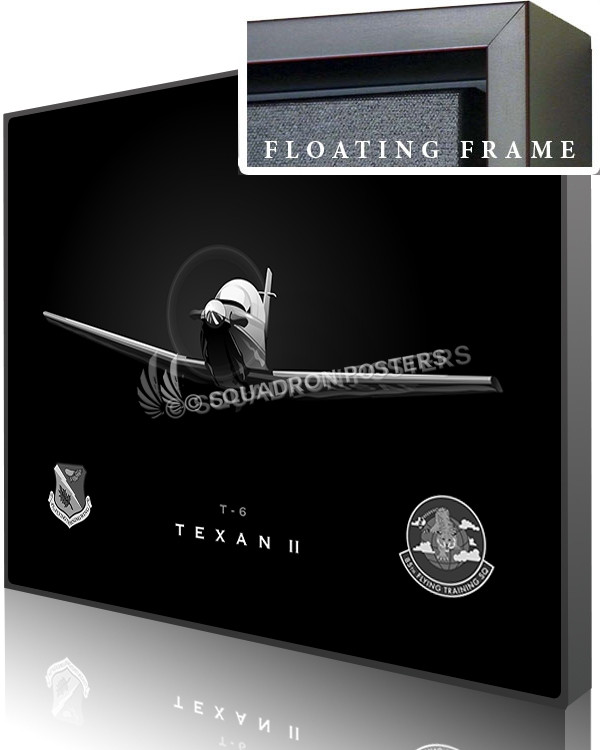 Jet Black T-6 85th FTS SP00987-featured-canvas-framed-aircraft-lithograph