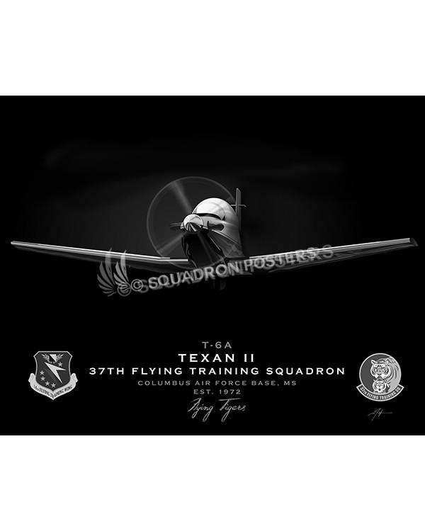 Jet Black T-6 Texan Columbus AFB 37th FTS SP01087-FEAT-jet-black-aircraft-lithograph