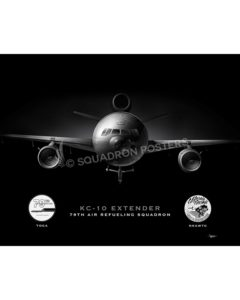 KC-10 79 ARS Jet Black Lithograph Jet Black Travis KC-10 AFB 79 ARS SP01317-FEAT-jet-black-aircraft-lithograph-art