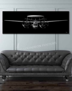 E-2 Hawkeye Jet Black Super Wide canvas prints