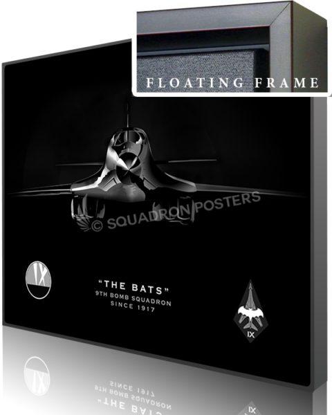 Jet black B-1 Bats SP01062-canvas-framed-aircraft-lithograph