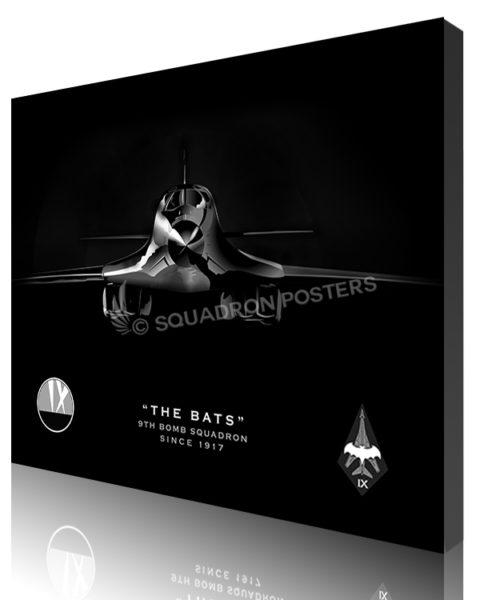 Jet black B-1 Bats SP01062-canvas-wrap-lithograph