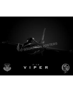 Jet black F16 SP00765 FEAT-jet-black-aircraft-lithograph-print