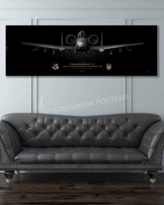 A-10, 355th OSS Jet Black Super Wide Canvas Print jet_black_a-10_355th_oss_60x20_sp01145-military-air-force-aviation-artwork-poster-jet-black-litho