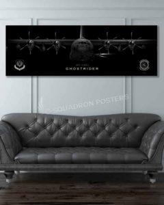 AC-130J, 1 SOAMXS Jet_Black_AC-130J_60x20_SP01457military-air-force-aviation-artwork-poster-jet-black-litho