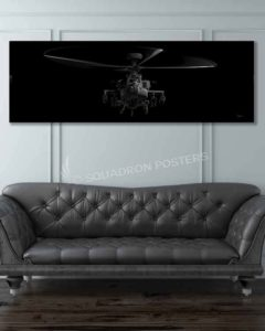 AH-64 Apache Jet Black Jet_Black_AH-64_Apache_60x20_SP01273-military-air-force-aviation-artwork-poster-jet-black-litho-art