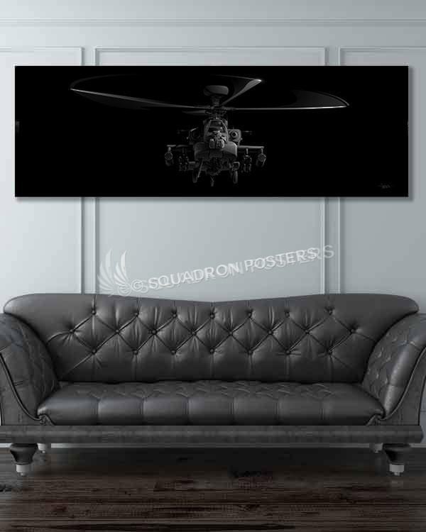 AH-64 Apache Jet Black Jet_Black_AH-64_Apache_60x20_SP01273-military-air-force-aviation-artwork-poster-jet-black-litho-art