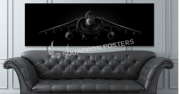 AV-8B Jet Black Super Wide Canvas Print Jet_Black_AV-8B_Harrier_60x20_SP01414-social-tab-on-woocommerce-jet-black-artwork-airplane