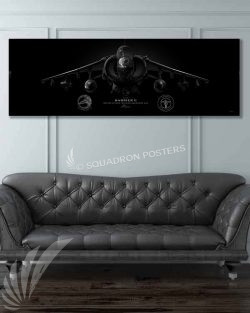 AV-8B VMAT-203 Jet Black Super Wide Canvas Print Jet_Black_AV-8B_mod_60x20_SP01432-military-air-force-aviation-artwork-poster-jet-black-litho