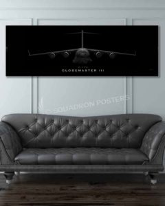 C-17 Globemaster III Jet Black jet_black_c-17_60x20_sp01212-military-air-force-aviation-artwork-poster-jet-black-litho