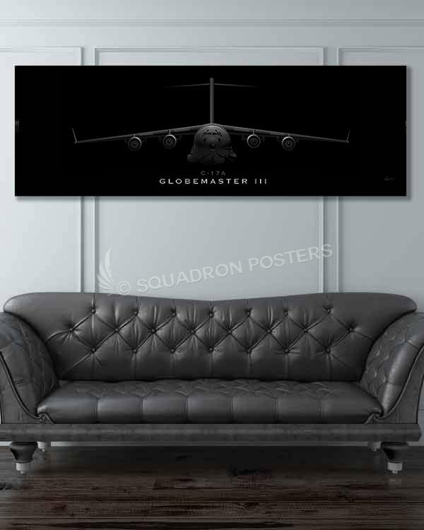 C-17 Globemaster III Jet Black jet_black_c-17_60x20_sp01212-military-air-force-aviation-artwork-poster-jet-black-litho