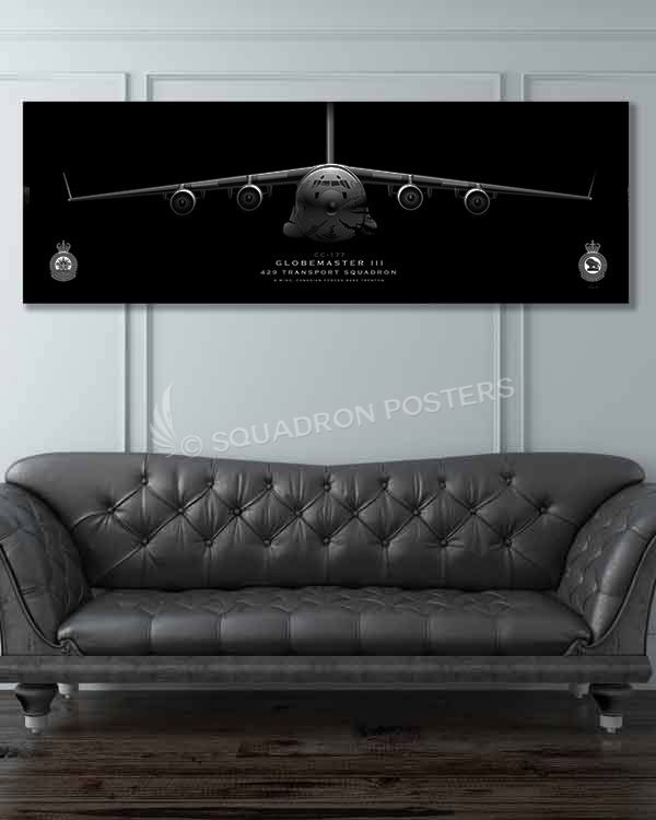 CC-177, 429 TS Jet_Black_C-17_CFB_Trenton_CC-177_429_TS_60x20_SP01382-military-air-force-aviation-artwork-poster-jet-black-litho