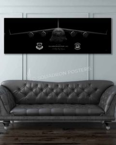 C-17 6th AS Jet Black Jet_Black_C-17_JB_McGuire-Dix-Lakehurst_6th_AS_60x20_SP01415-military-air-force-aviation-artwork-poster-jet-black-litho