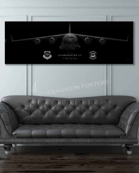 C-17 6th AS Jet Black Jet_Black_C-17_JB_McGuire-Dix-Lakehurst_6th_AS_60x20_SP01415-military-air-force-aviation-artwork-poster-jet-black-litho
