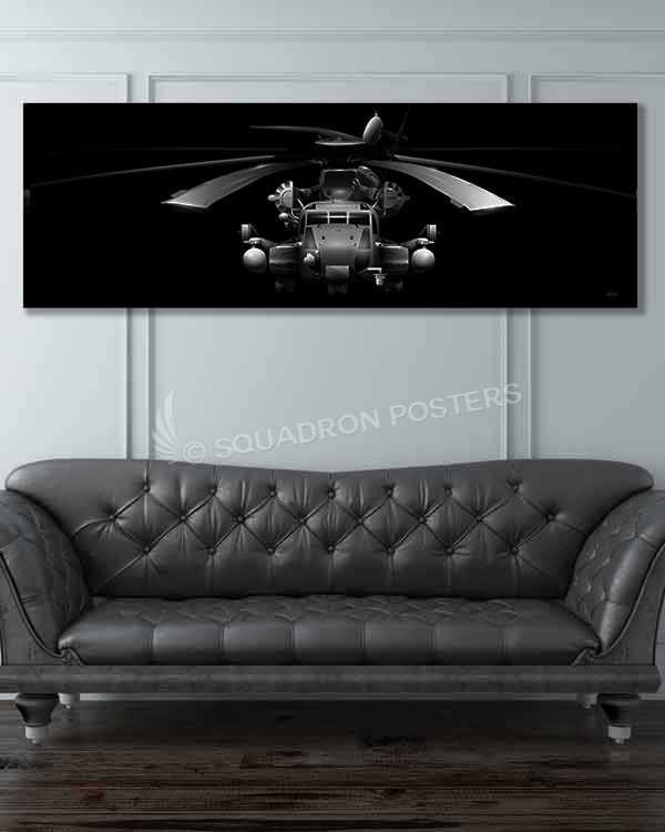 CH-53E Jet Black Super Wide Jet_Black_CH-53E_Super_Stallion_60x20_GENERIC_SP01287-military-air-force-aviation-artwork-poster-jet-black-litho-art
