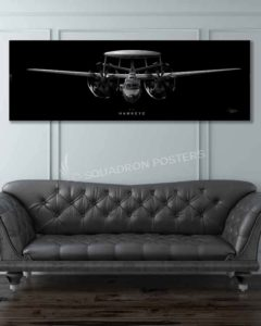 E-2 Hawkeye Jet Black Super Wide Jet_Black_E-2_60x20_v2_SP01236-military-air-force-aviation-artwork-poster-jet-black-litho
