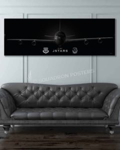 Jet_Black_E-8C_JSTARS_12_ACCS_60x20_Max_Shirkov_SP01546military-air-force-aviation-artwork-poster-jet-black-litho