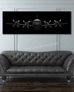 EP-3 Aries II Jet Black Super Wide Canvas Print Jet_Black_EP-3_Aries_II_60x20_SP01428-military-air-force-aviation-artwork-poster-jet-black-litho