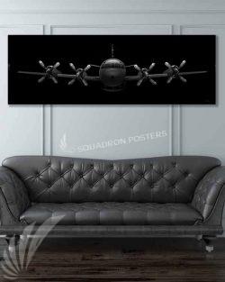 EP-3 Aries II Jet Black Super Wide Canvas Print Jet_Black_EP-3_Aries_II_60x20_SP01428-military-air-force-aviation-artwork-poster-jet-black-litho