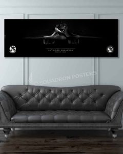 B-1 Lancer, 34 BS Super Wide Canvas Print Jet_Black_Ellsworth_AFB_34th_BS_B-1b_60x20_SP01346-military-air-force-aviation-artwork-poster-jet-black-litho