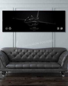 F-16 187th FW Jet Black Jet_Black_F-16_Viper_100th_Fighter_SQ_60x20_SP01259-military-air-force-aviation-artwork-poster-jet-black-litho-art