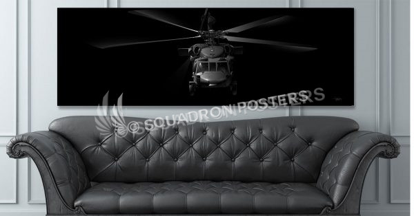 H-60 Jet Black Super Wide Canvas Print Jet_Black_H-60_60x20_SP01238-social-tab-on-woocommerce-jet-black-artwork