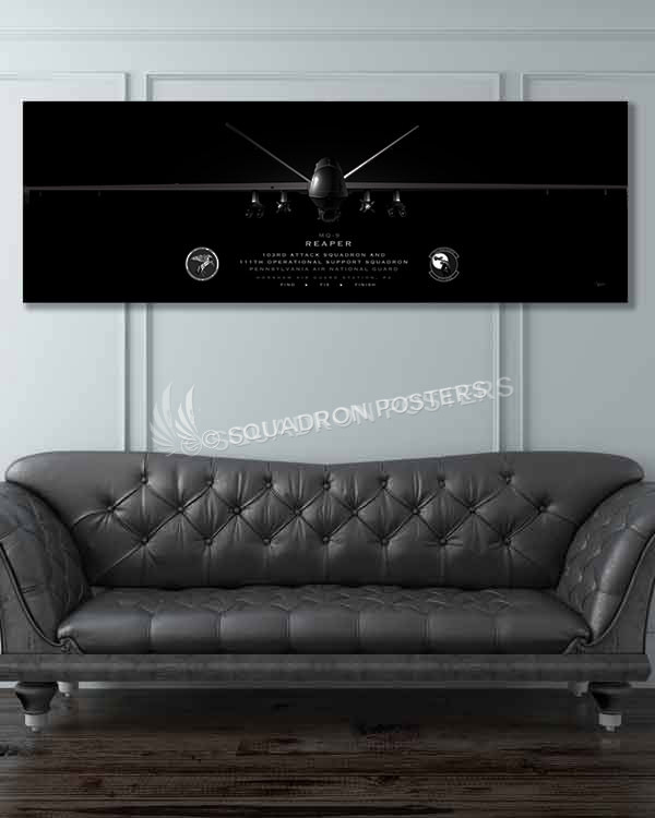 Jet_Black_MQ-9_Horsham_AGS_103d_ATKS_111th_OSS__60x20_SP01376military-air-force-aviation-artwork-poster-jet-black-litho
