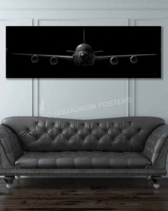 RC-135 Jet Black Super Wide Canvas Print Jet_Black_RC-135_60x20_SP01436-military-air-force-aviation-artwork-poster-jet-black-litho