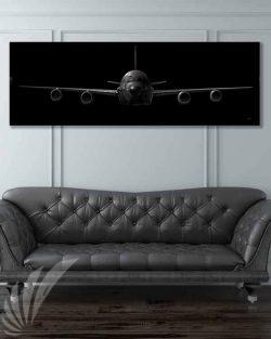 RC-135 Jet Black Super Wide Canvas Print Jet_Black_RC-135_60x20_SP01436-military-air-force-aviation-artwork-poster-jet-black-litho