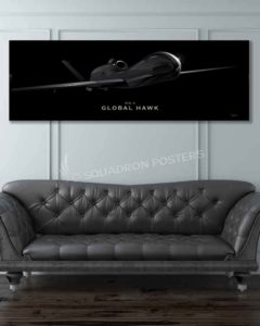 RQ-4 Global Hawk Jet Black Lithos