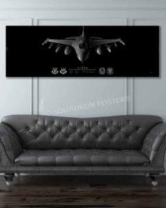 F-16 Tiger AMU Jet Black Super Wide Canvas Print