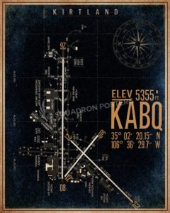 KABQ_Kirtland_AFB_airfield_map_poster_SP00889-featured-lithograph-vintage-airplane-poster-art