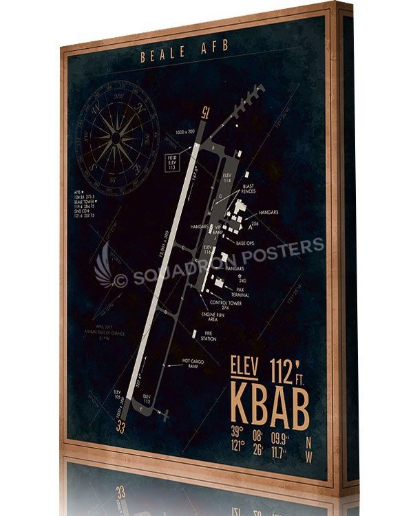 KBAB_Beale_AFB_Airfield_Art_SP01494-aircraft-prints-posters-vintage-art