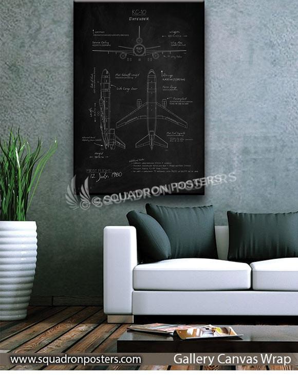 KC-10_Extender_Blackboard_v2_SP01254-squadron-posters-vintage-canvas-wrap-aviation-prints