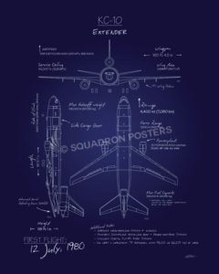 KC-10 Extender Blueprint Art KC-10_Extender_Blueprint_v2_SP01255-featured-aircraft-lithograph-vintage-airplane-poster-art