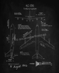 KC-135 Stratotanker Blackboard KC-135_Stratotanker_Blackboard_Blueprint_v2_SP01246-featured-aircraft-lithograph-vintage-airplane-poster-art