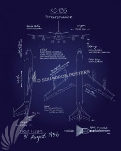 KC-135 Stratotanker Blueprint KC-135_Stratotanker_Blueprint_v2_SP01247-featured-aircraft-lithograph-vintage-airplane-poster-art